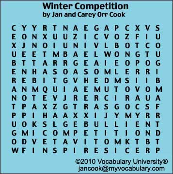 Winter Weather vocabulary games, Winter Weather vocabulary puzzles ...